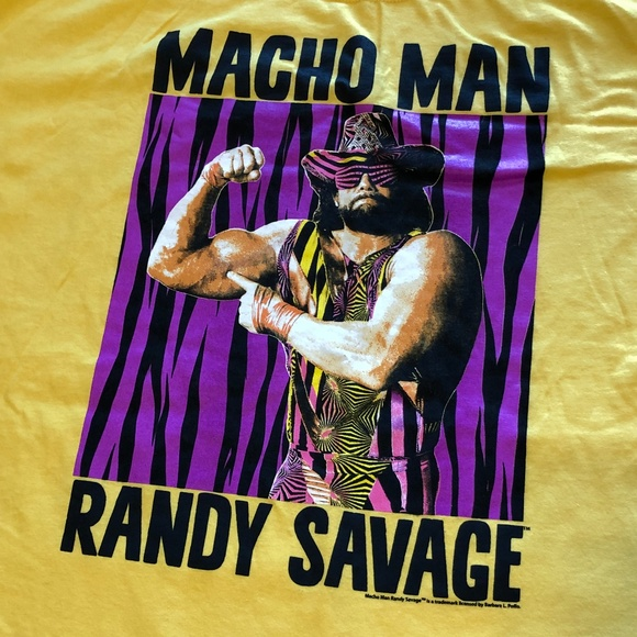 Other - NWOT Macho Man Randy Savage WWE Shirt XXL Gold S/S